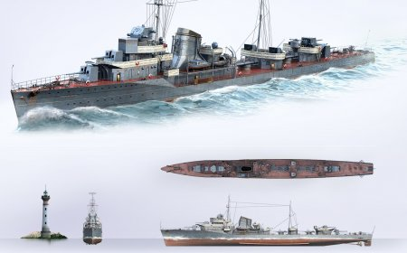 Эсминцы в игре WORLD OF WARSHIPS